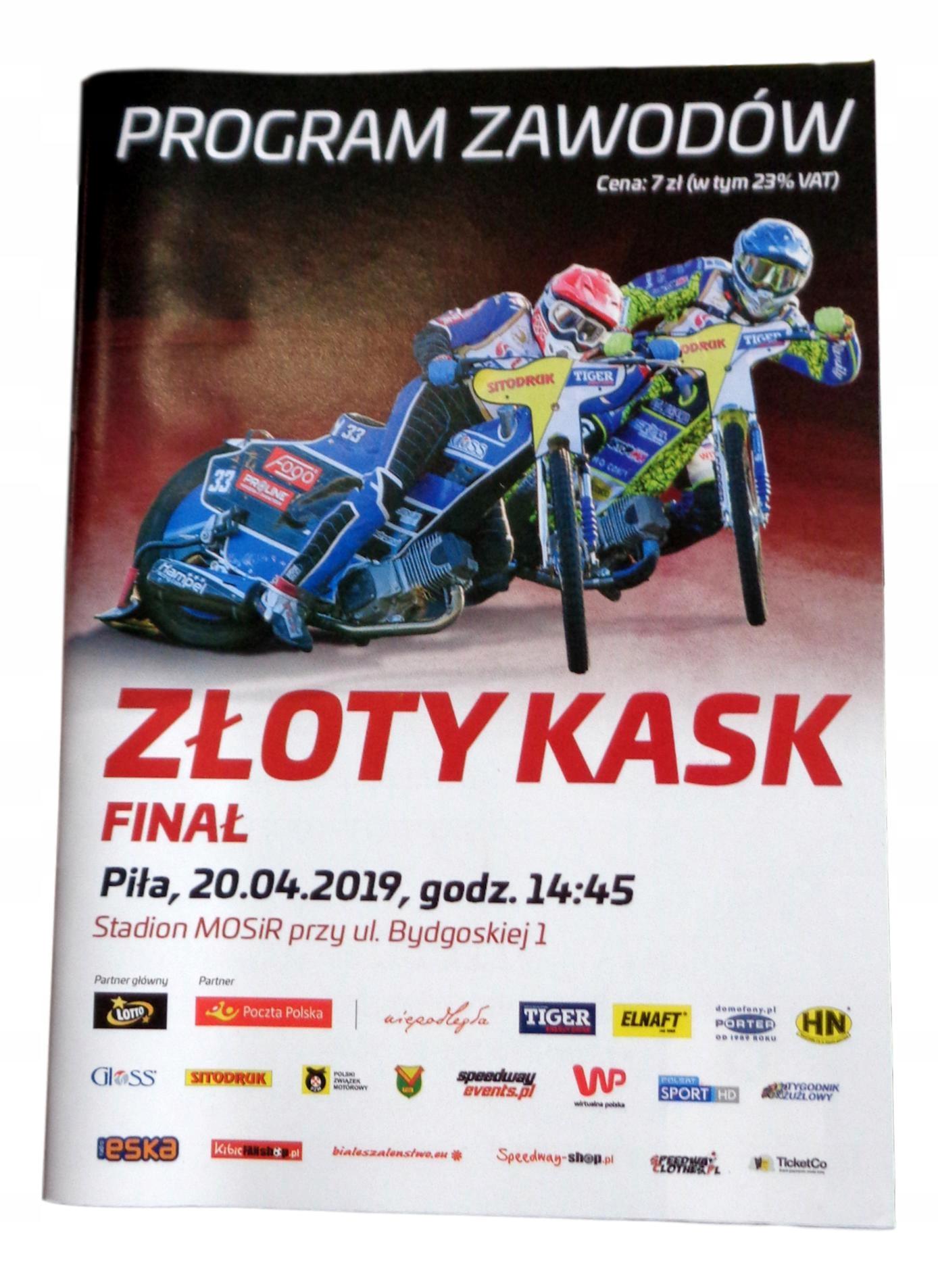 Program Speedway. Zlatá prilba PIŁA 20/04/2019