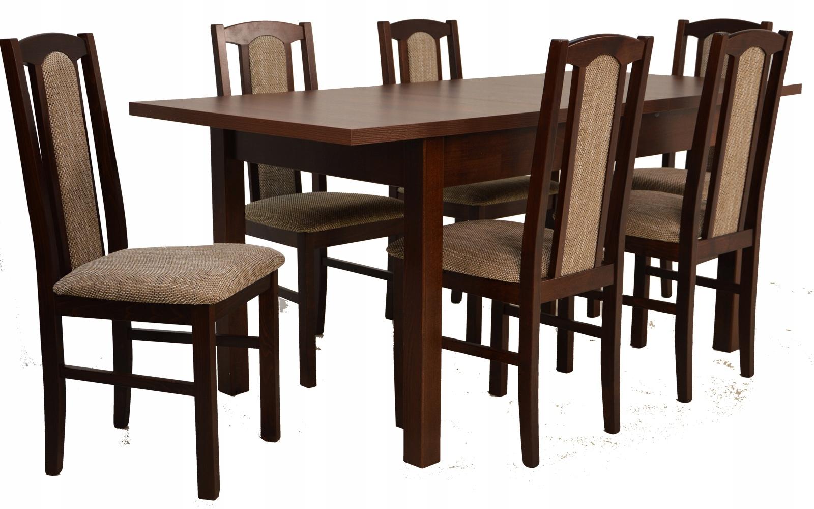 Купить Комплект Деревянный стол 80x140 и 6 стульев ОРЕХ на Otpravka - цены и фото - доставка из Польши и стран Европы в Украину.