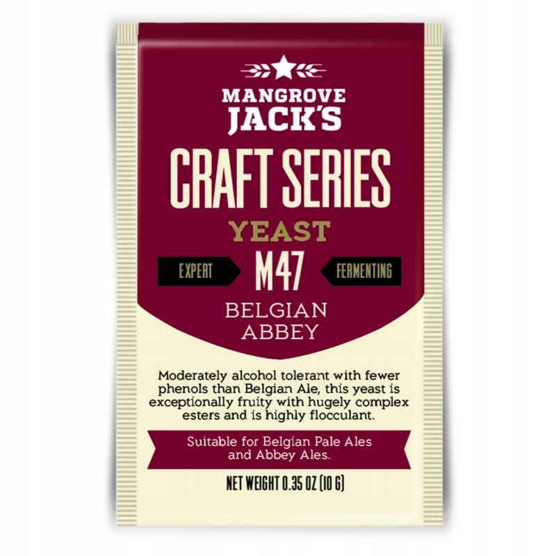 Пиво дрожжевое Mangrove Jack M47 BELGIAN ABBEY 10g