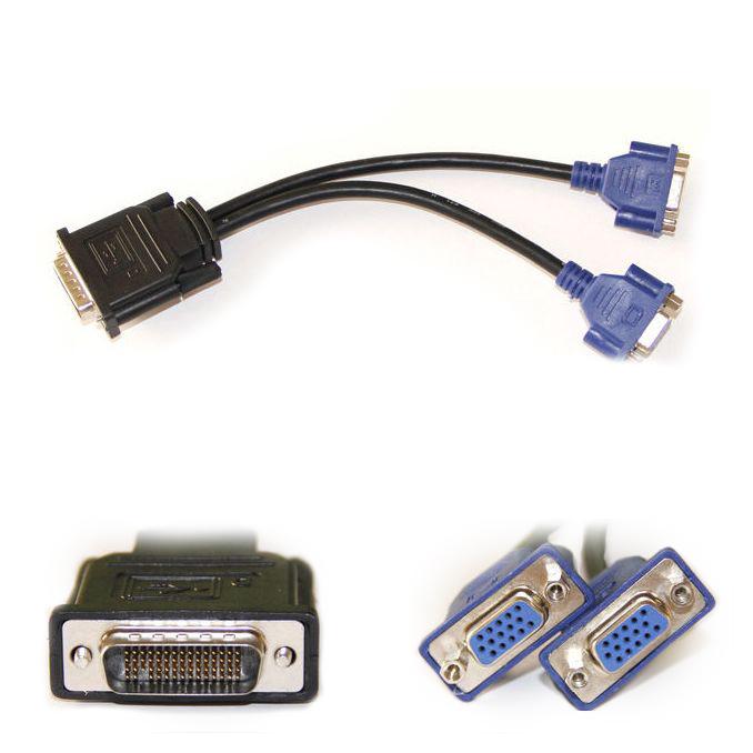 DMS 59 až 2X VGA kábel 15 pin Dve monitory