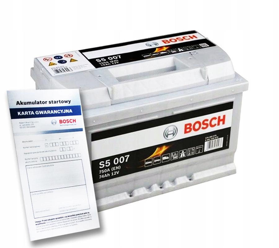 аккумулятор bosch silver s5 74ah 750a
