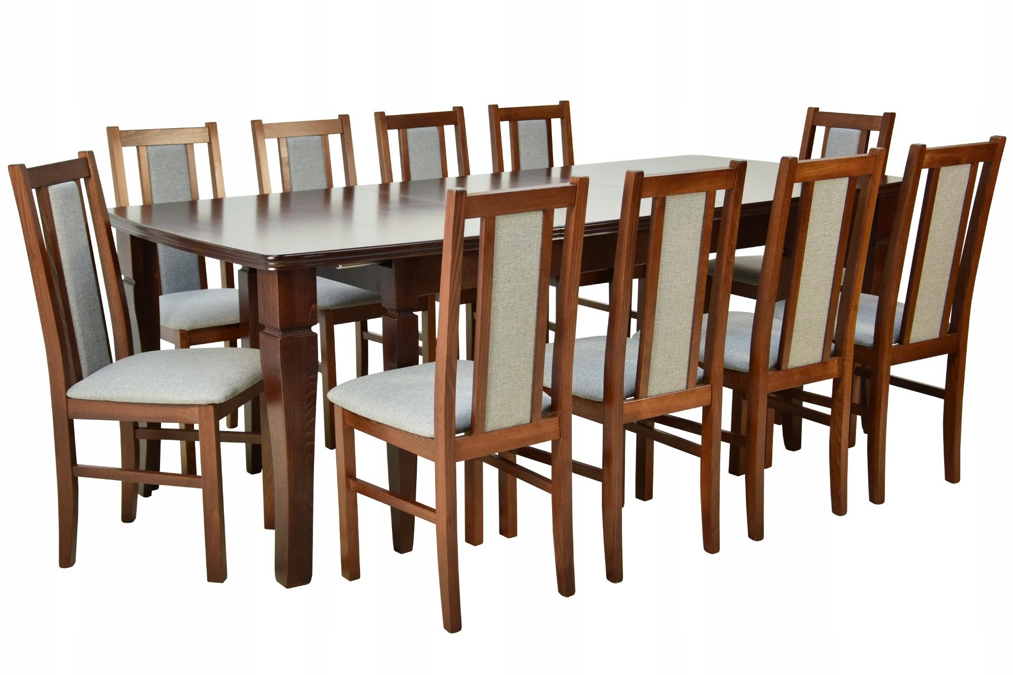 10 DREVENÉ stoličky +rozšíriteľný tabuľka PEVNÉ a VEĽKÉ