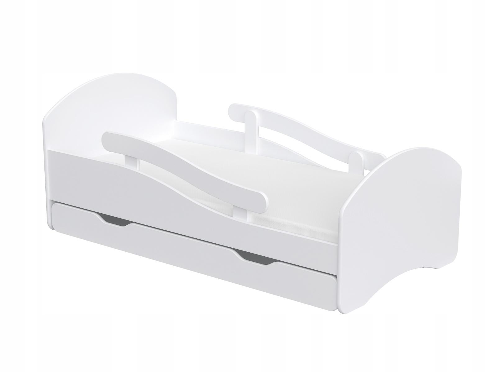 Detská posteľ 160x80 biela so zarážkou PODPORA