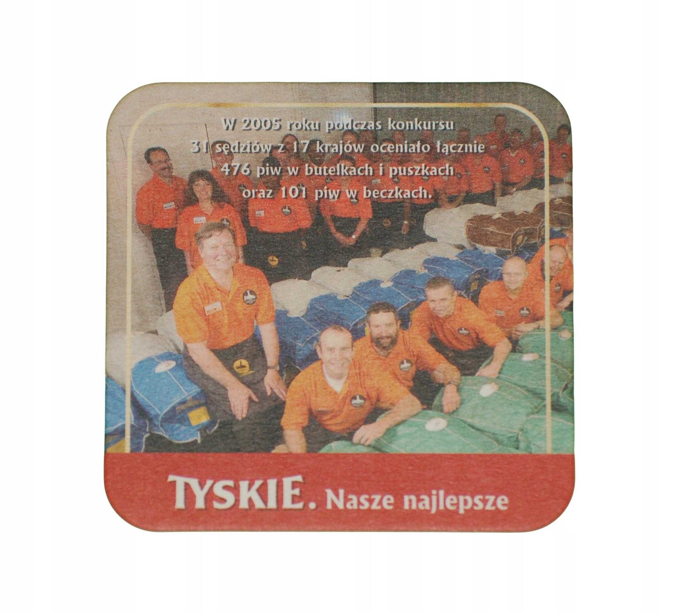 TYSKIE BEER подставка с пивом вафельные доставка товаров из Польши и Allegro на русском