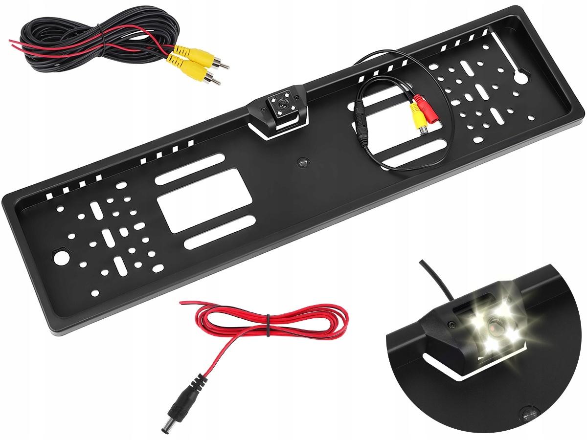 Камера заднего вида в рамке номерного знака с ИК-подсветкой
