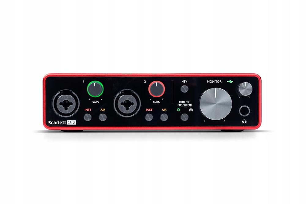 Item 3 Focusrite Scarlett 2i2 USB audio interface