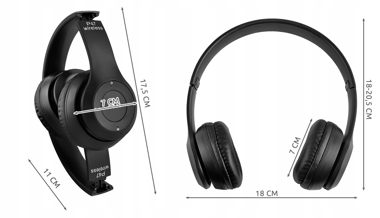 Bezdrátová Bluetooth sluchátka FM mikrofon značky Iso Trade