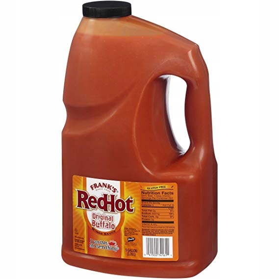 Frank's RED HOT BUFFALO KRÍDLA OMÁČKOU 3,78 l UK