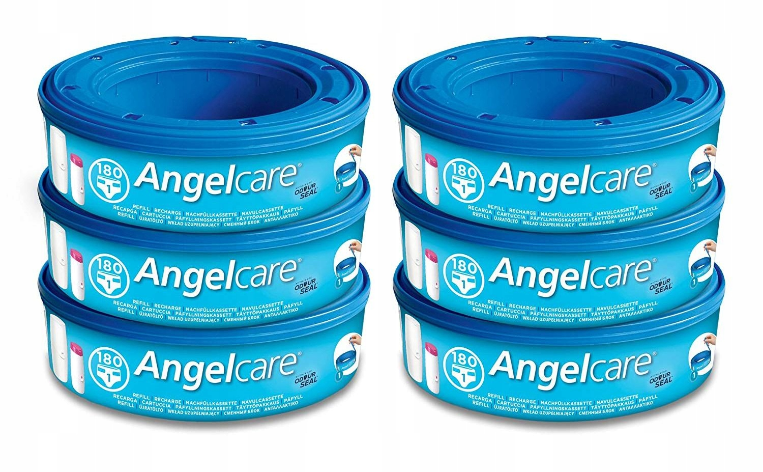Item ANGELCARE CONTRIBUTION TO CAPACITY DIAPER BAGS x6