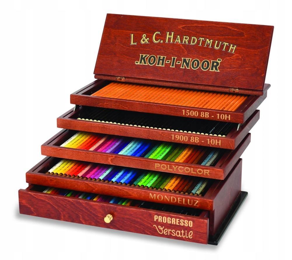 Koh-I-Noor sada farebných ceruziek a pasteliek 5 zásuviek Retro