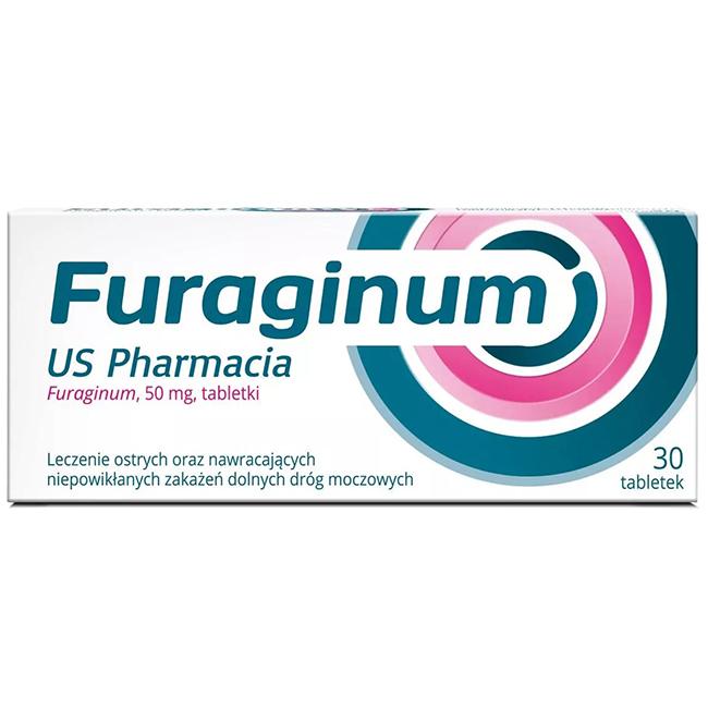 Furaginum USP furagina 50mg dla kobiet 30 tabletek