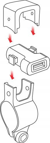 LAMPA 38832 Ładowarka USB 1224V z mocowaniem