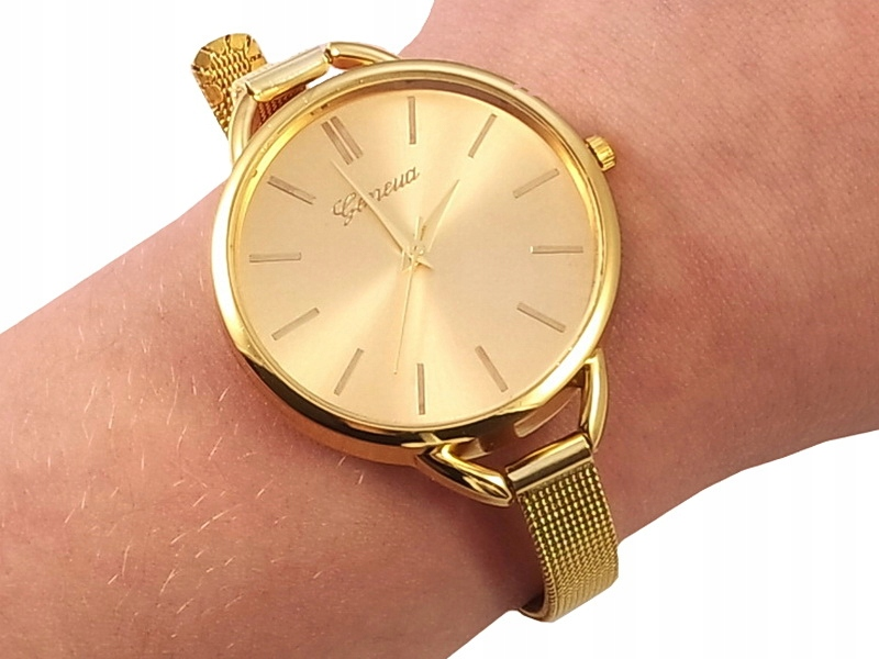 Item Z33 Watch Geneva GOLD Golden THIN Bangle HEATH