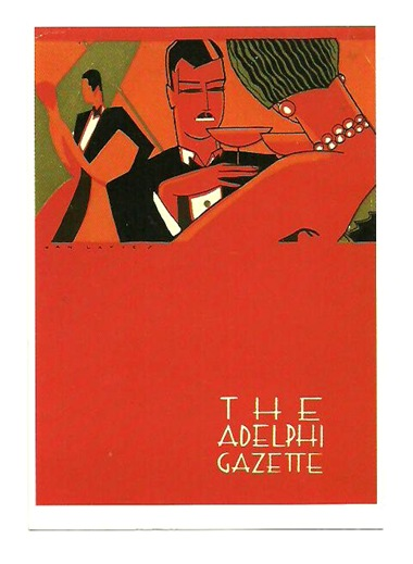 Pocztówka - Reklama - Hotel Adelphi - lata 30-te