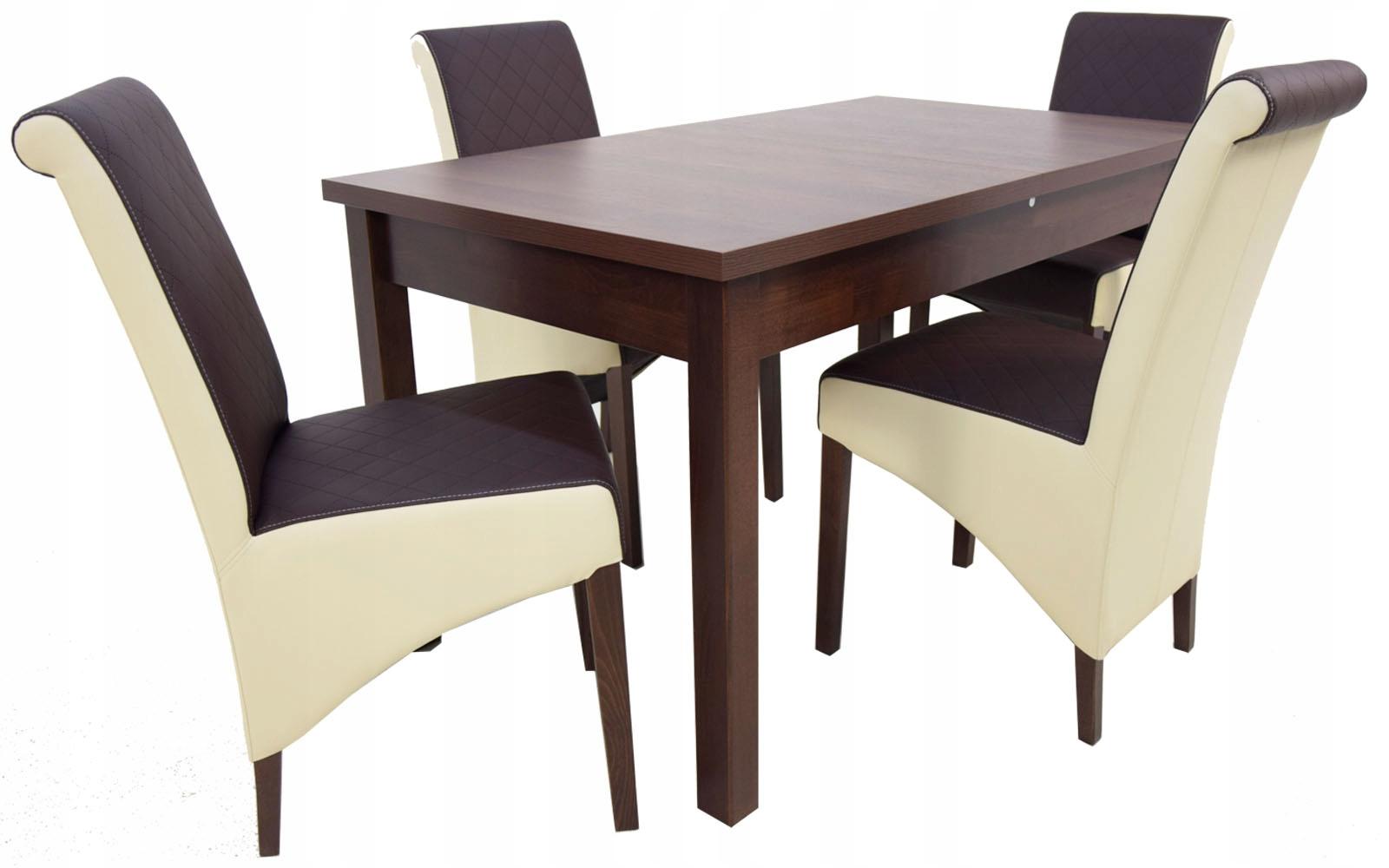Купить СОВРЕМЕННЫЙ НАБОР обеденный стол 80x140 и 4 КРЕСЛА стулья на Otpravka - цены и фото - доставка из Польши и стран Европы в Украину.