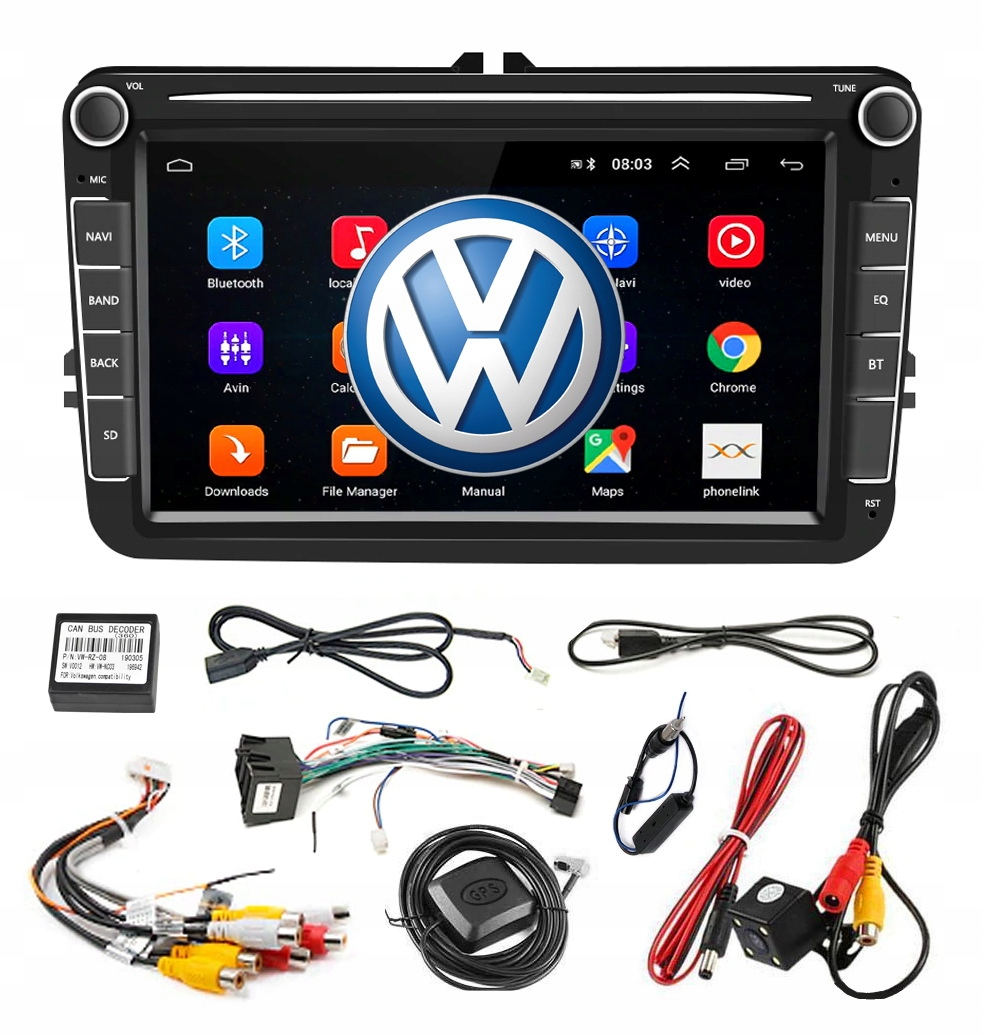 RADIO ANDROID 2 DIN ГОЛЬФ V VI 5 6 VW PASSAT B6 B7