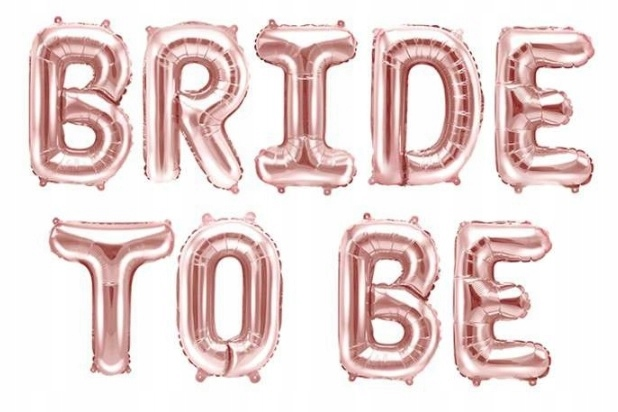 Item Balloons Bride to be rose gold inscription bachelorette party