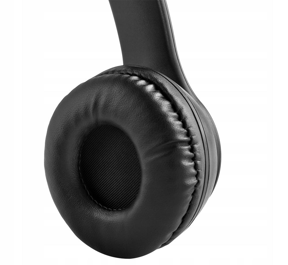 Sluchátka Bezdrátový Bluetooth mikrofon FM MP3 Materiál plast