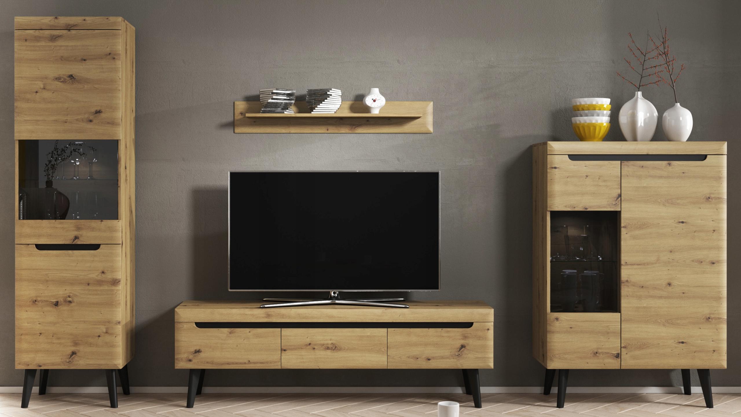 Купить набор мебели LOCO 1 meblościanka для САЛОН Дуб на Eurozakup - цены и фото - доставка из Польши и стран Европы в Украину.