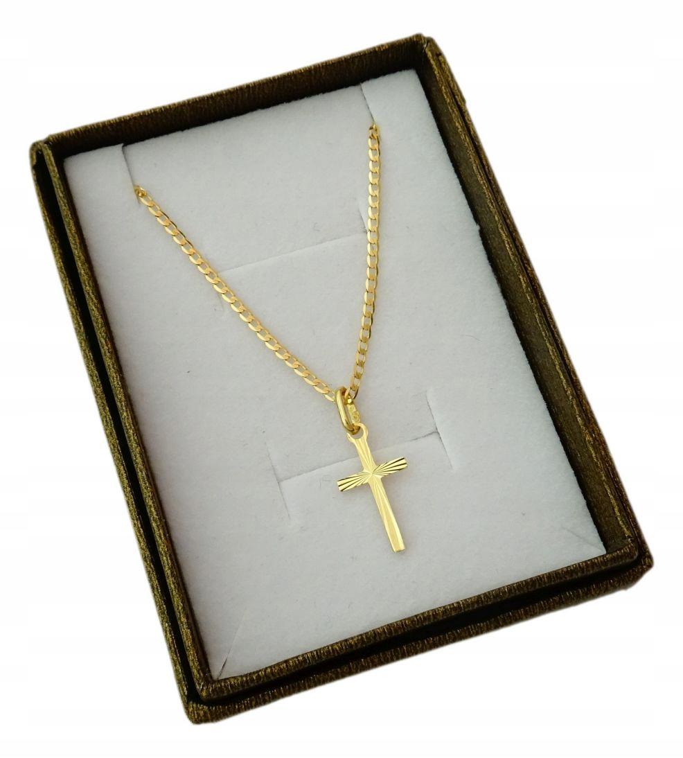 Item GOLD CHAINS FULL + CROSS 50 CM. PR. 585
