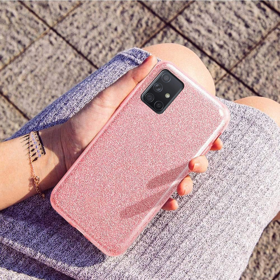 Etui CASE BROKAT + SZKŁO 9H do Samsung Galaxy A71 Dedykowany model Samsung Galaxy A71