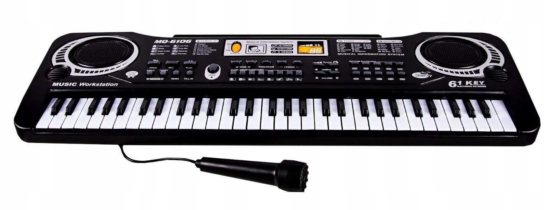 Klávesový organový klavírny mikrofón 61 klávesov