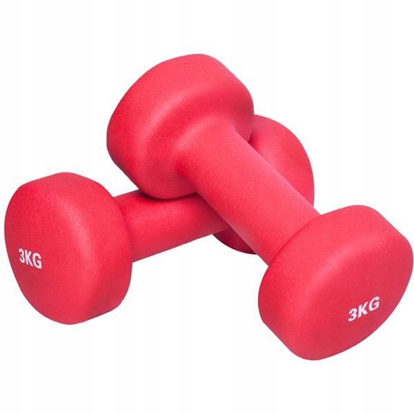 Sada 2x 3 kg Dumbbells Hanthelka Fitness Hmotnosť