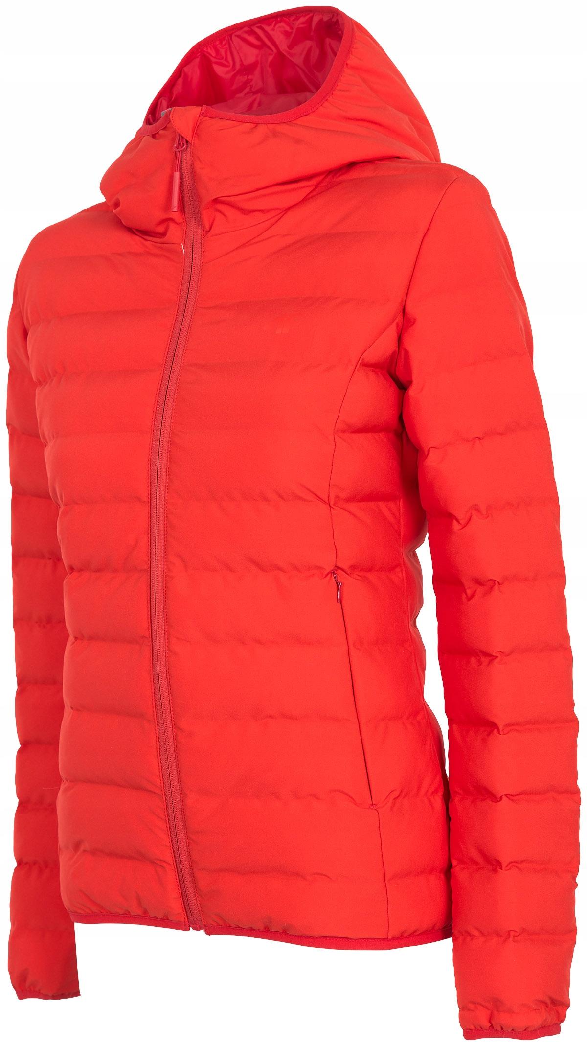 4F Damska kurtka puchowa 2019 KUDP006 czerwony XL