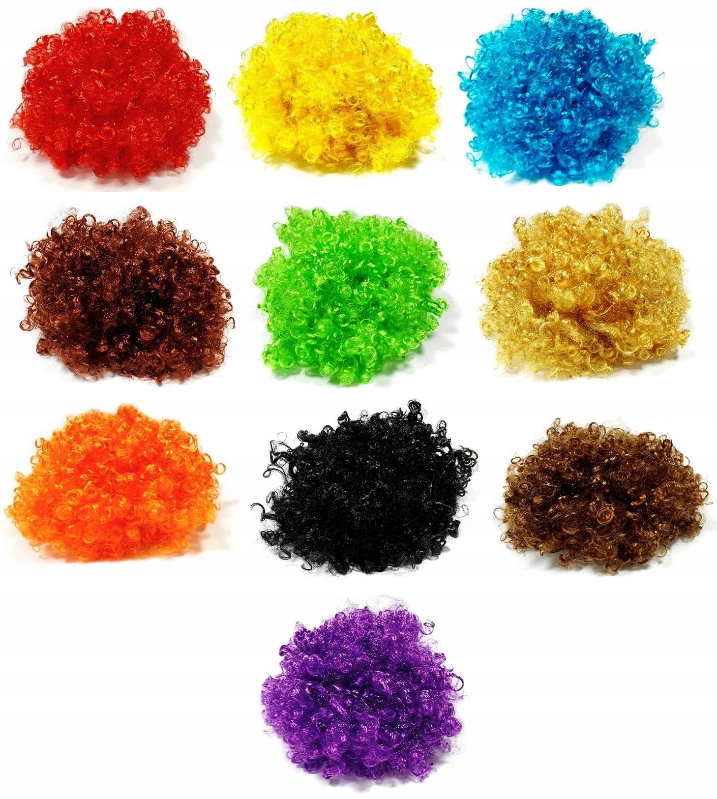 Купить Парик АФРО парик на КАРНАВАЛ БАЛ различные цвета на Otpravka - цены и фото - доставка из Польши и стран Европы в Украину.
