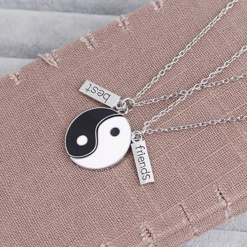 NASZYJNIK przyjaźni best friends TALIZMAN yin yang 8147910589 ALEJsVgd