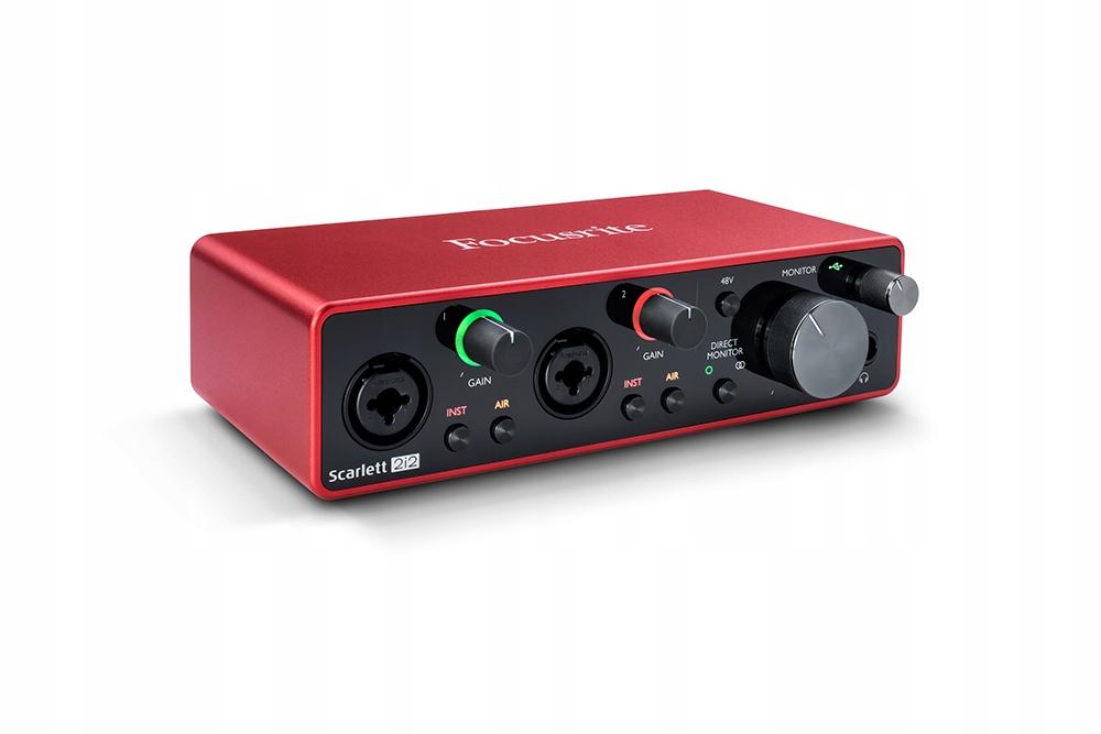 Item Focusrite Scarlett 2i2 3rd generation USB Interface + DAW