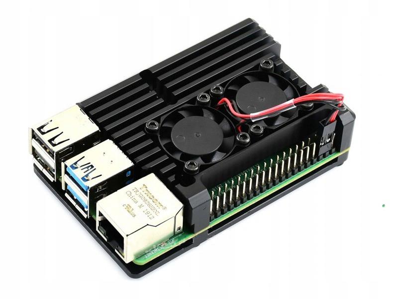 Купить Алюминиевый корпус для Raspberry Pi 4 вентилятор на Otpravka - цены и фото - доставка из Польши и стран Европы в Украину.
