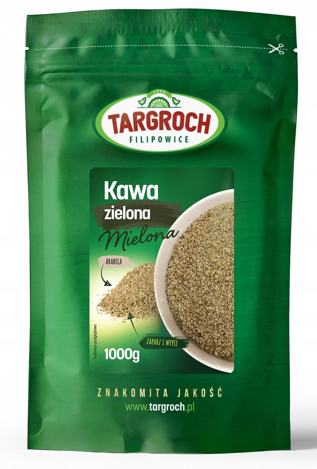 TARGROCH Kawa zielona mielona 1000g odchudzanie
