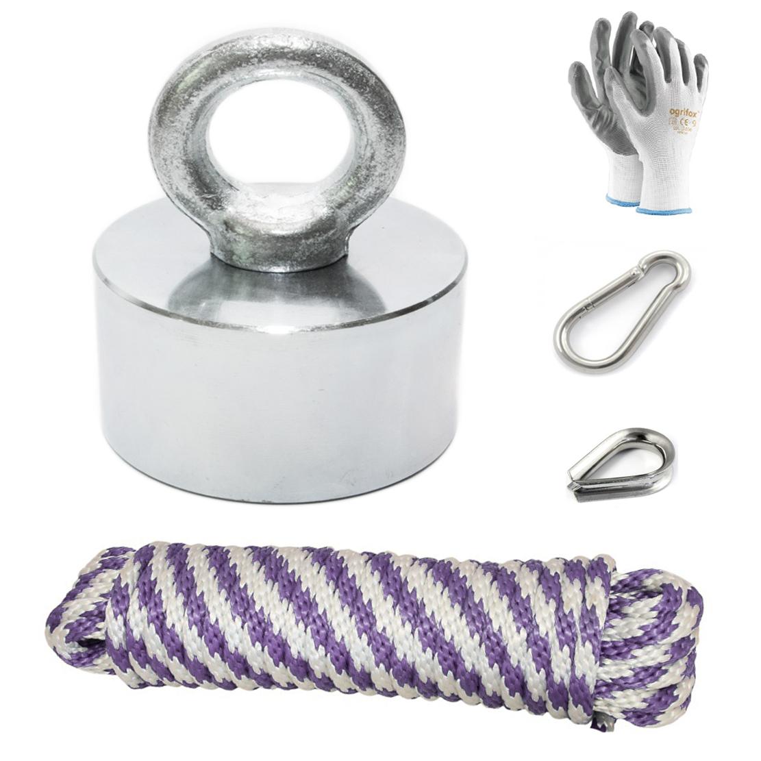 ДЕРЖАТЕЛЬ грузоподъемность - 200 кг - неодимовый магнит + коробка