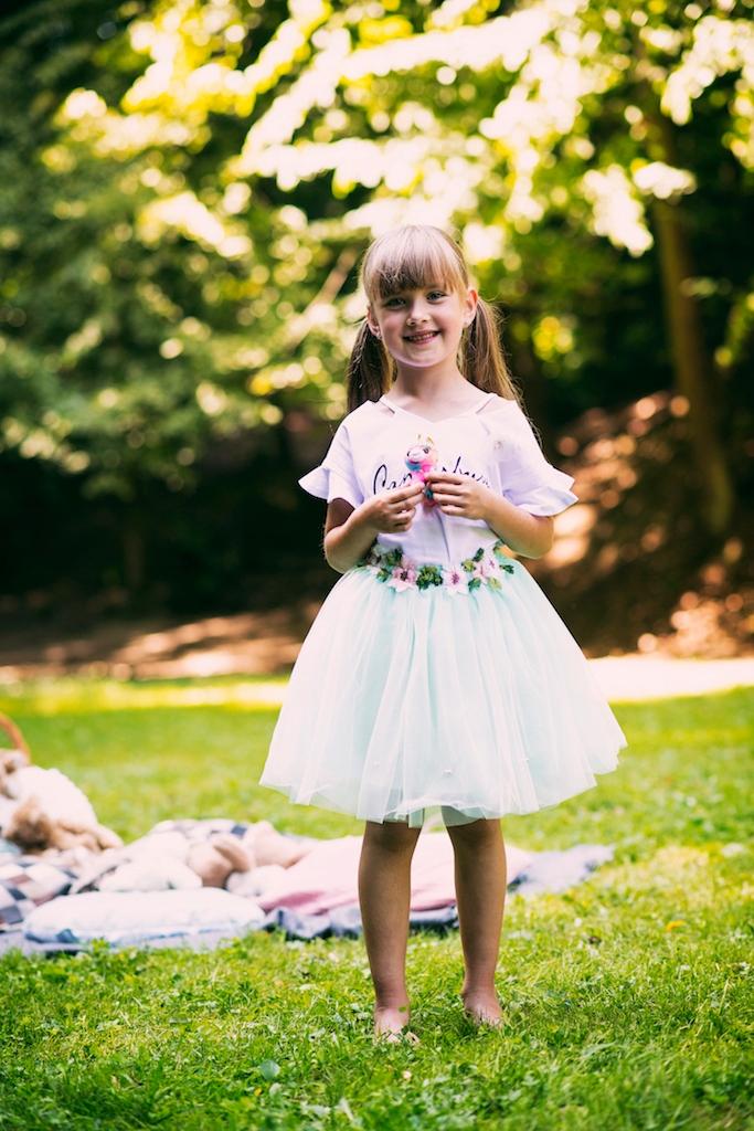 Zestaw dziewczynka spódniczka tiul lato wiosna
