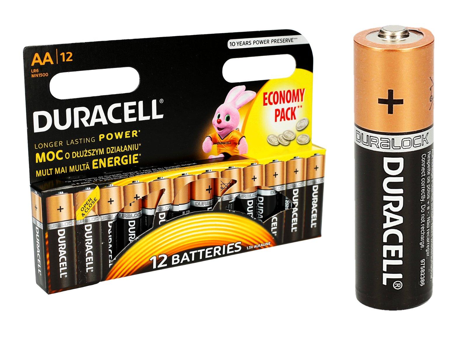 Oryginalne Baterie DURACELL AALR6 12 sztuk