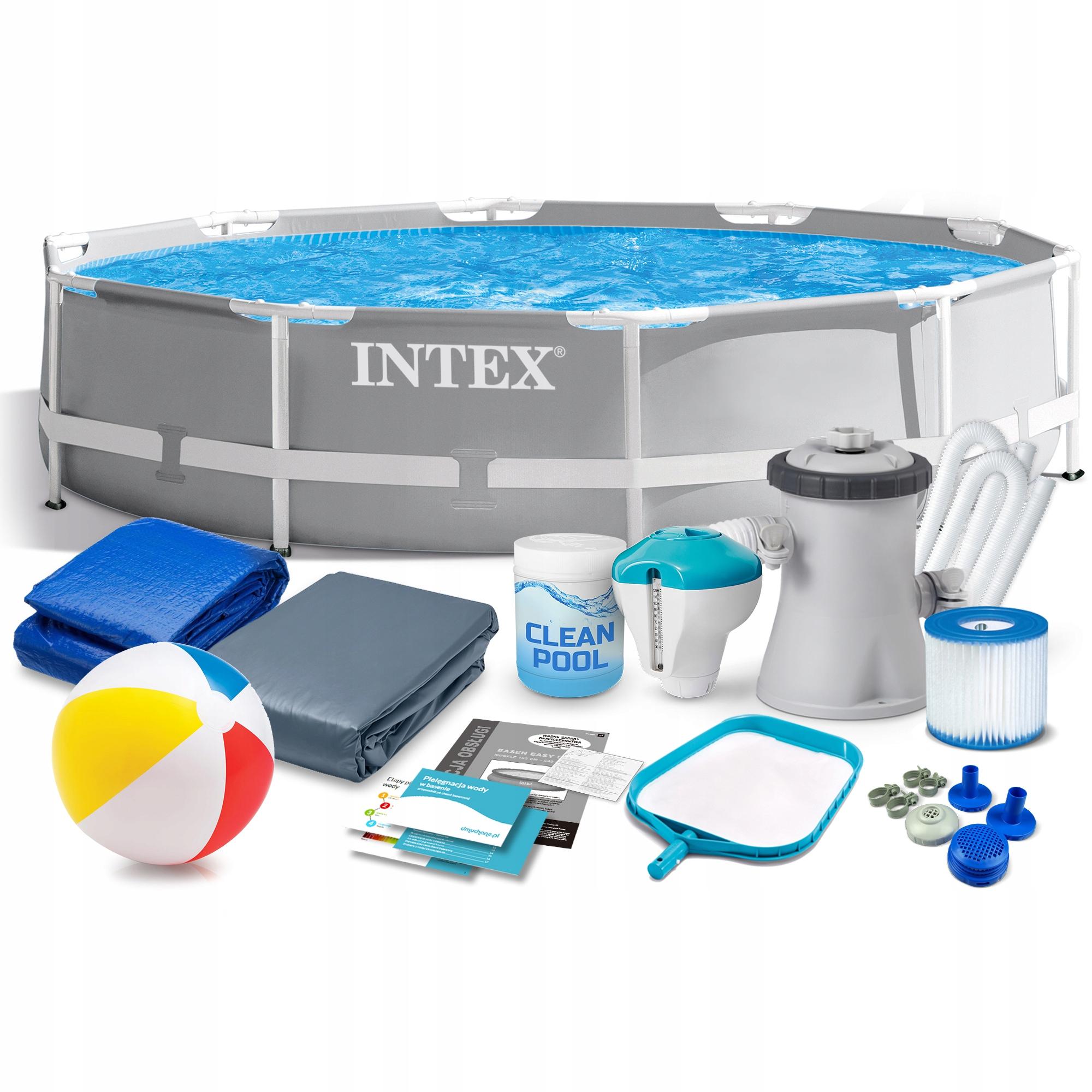 Садовый бассейн для монтажа в стойку INTEX 305x76cm 26702 16w1