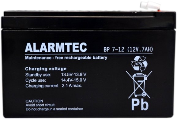 Item Battery ALARMTEC BP 7-12 12V 7Ah AGM UPS Alarm