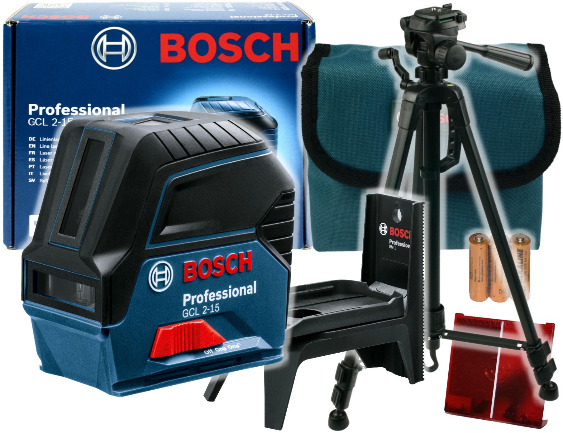 ЛАЗЕРНЫЙ ПЕРЕКРЕСТНЫЙ GCL 2 -15 Bosch + ШТАТИВ 150см