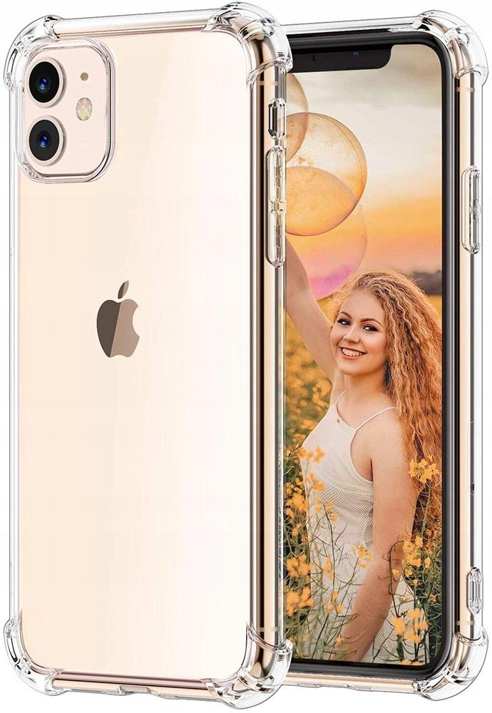 ETUI CLEAR CASE GUMA + SZKŁO 9H do iPhone 11