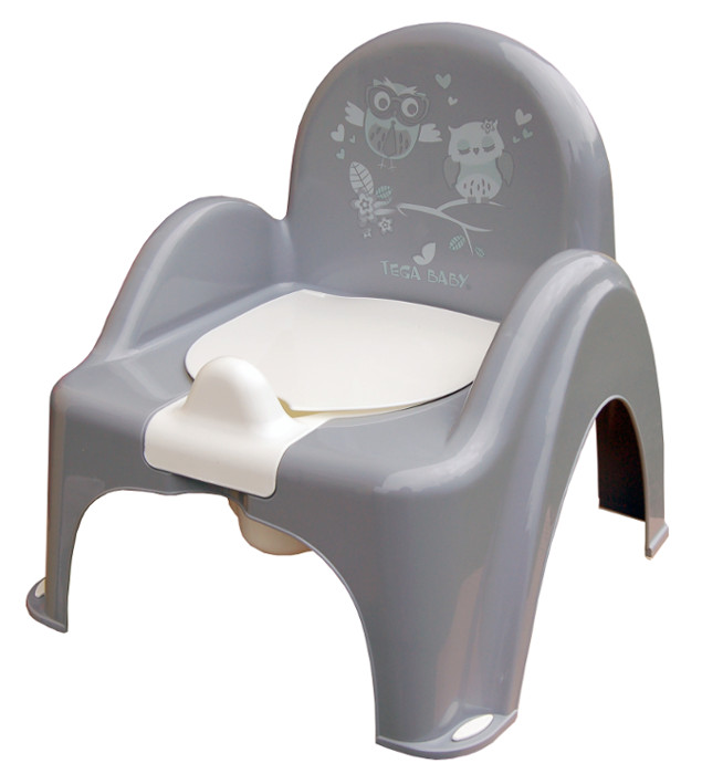 Item TEGA BABY POTTY CHAIR THAT PLAYS WITH A MUSIC BOX AND HINGED LID