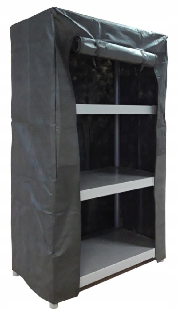 Pokrowiec ochronny regału 138x80x46cm kolor czarny