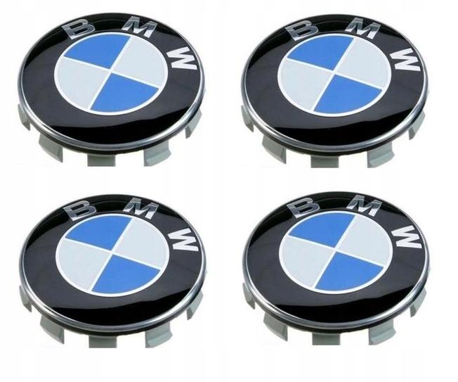КРЫШКА КОЛПАЧОК КРЫШКИ BMW 68ММ - КОМПЛЕКТ X4 BLUE