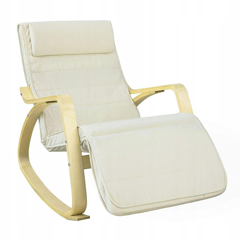 SoBuy FST16 W Relaksacyjny fotel na biegunach