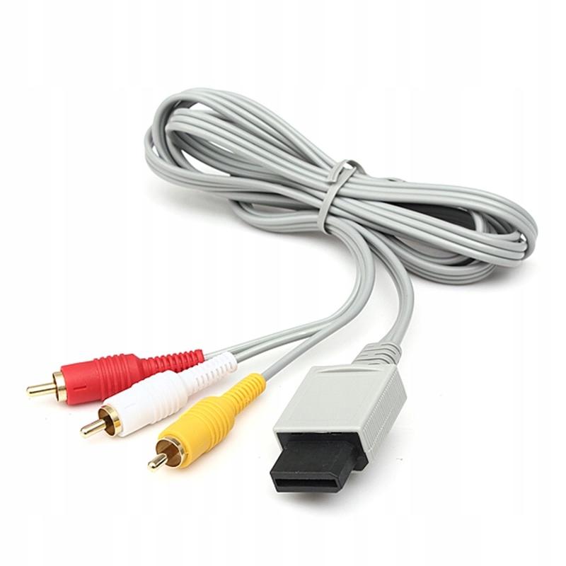 Item AV cable for Nintendo Wii, 3x RCA AUDIO VIDEO