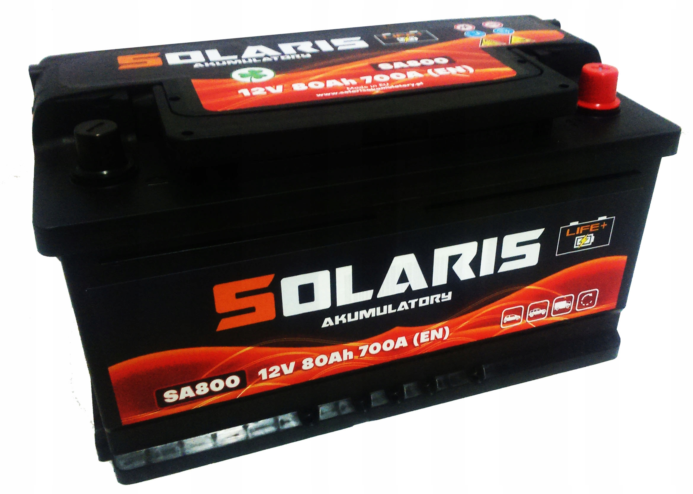 аккумулятор solaris 80ah 700a 80ah