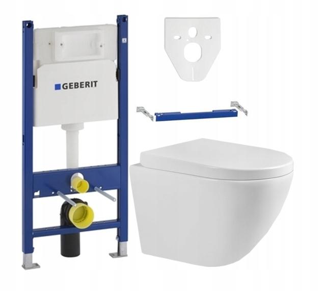 GEBERIT BASIC STELAŻ WC + MEXEN MISKA LENA DESKA