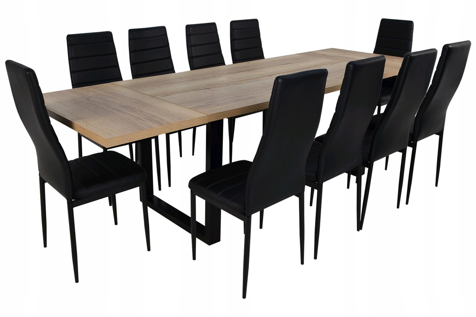 90/160/260 STÔL a 10 stoličiek eco SKVELÉ LOFT