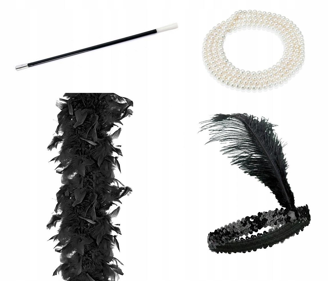 Cigarillo Pearls Повязка на голову Fea Boa RETRO 20s