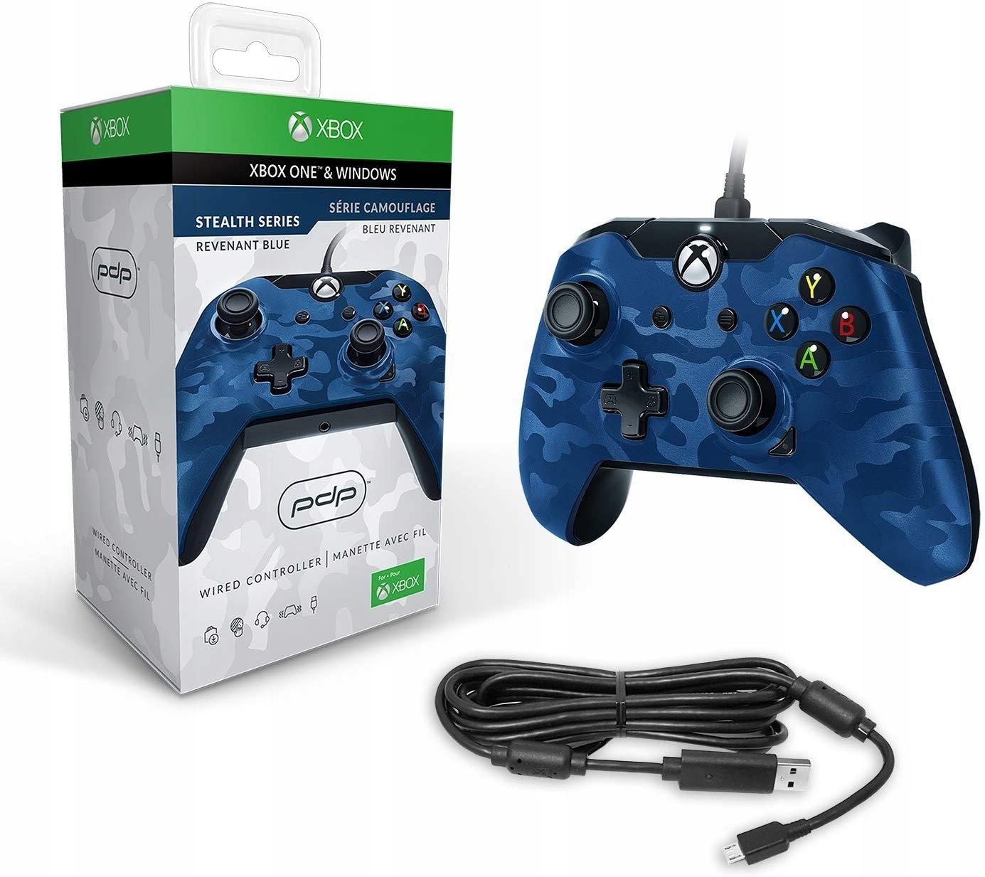 Купить PDP Xbox One Pad (проводной) CAMO BLUE на Otpravka - цены и фото - доставка из Польши и стран Европы в Украину.